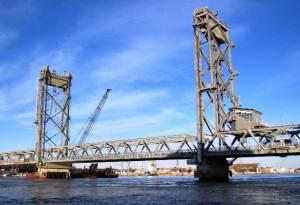Memorial Bridge between Portsmouth, NH & Kittery, ME